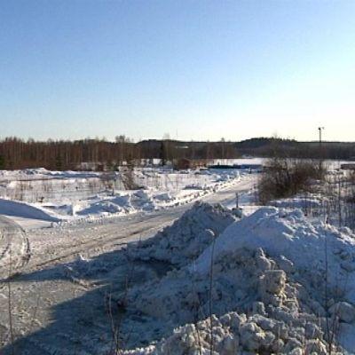 Kantolan vanha saha-alue talvella