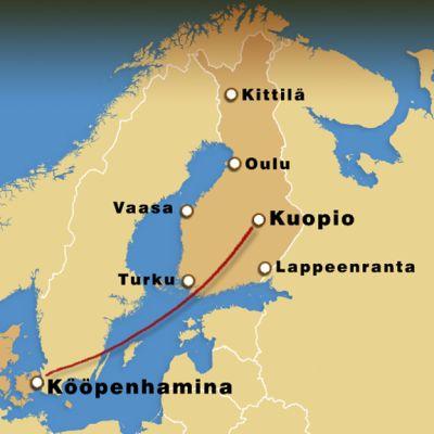 Blue1 aloittaa lennot Kuopiosta Kööpenhaminaan.