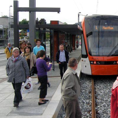 Turun norjalaisessa ystävyyskaupungissa Bergenissä avattiin raideliikenne vuonna 2010.