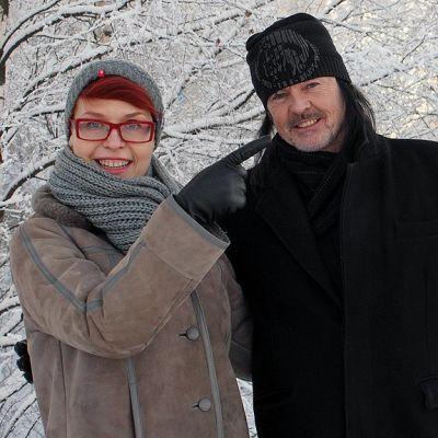 Johanna Försti ja Kari Peitsamo matkalla Pyhä Winter Unplugged -tapahtumaan