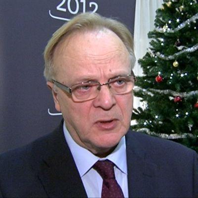 Työministeri Lauri Ihalainen Helsingissä 2. tammikuuta.