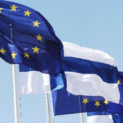 Suomen ja Eu:n liput