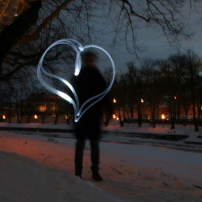 "Valograffiti ""Kaupungin sydän""."