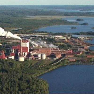 Stora Enson Uimaharjun tehdas Joensuussa.