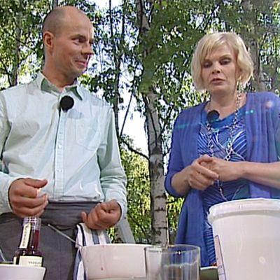 Lehtori Jarmo Åke Aamu-tv:n vieraana 7. heinäkuuta.