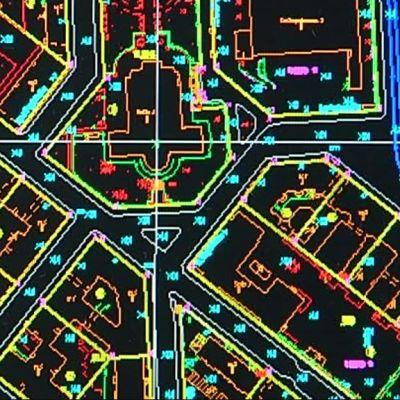 Kallion kirkko mittausosaston sähköisessä kartassa.