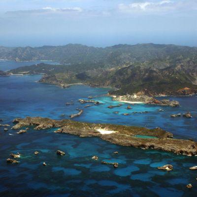 Ogasawaran saaret ilmakuvassa.