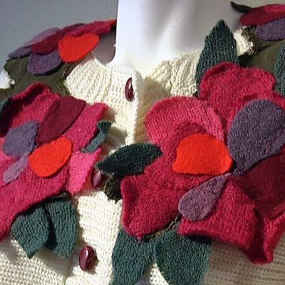Kukalliset hartiahuivit ovat inspiroineet Petra Leinoa.