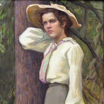 Vihtori Ylisen maalaama muotokuva Saima Tigerstedtistä vuodelta 1903