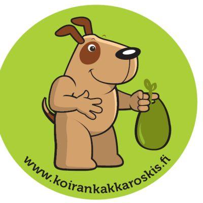 Koirankakkaroskis-tarra