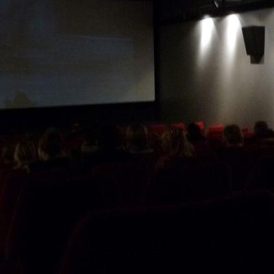 Elokuvateatterin valot ovat sammuneet ja esitys voi alkaa.
