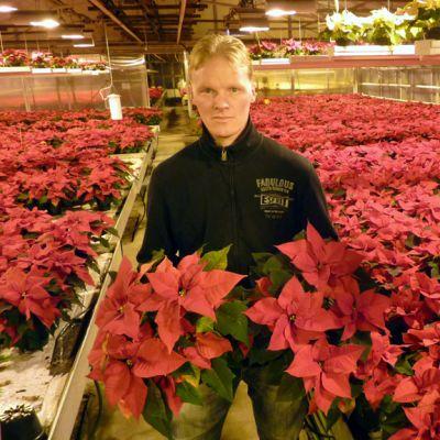 Heimosen puutarhan toimitusjohtaja Sami Heimonen