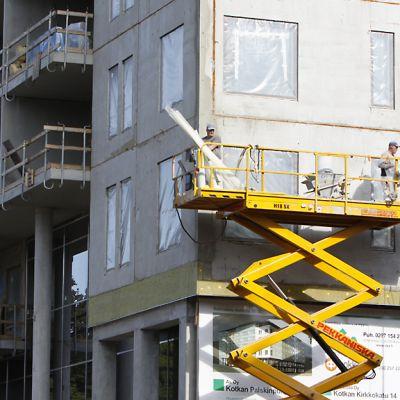 OKAN rakennustyömaa Kotkassa