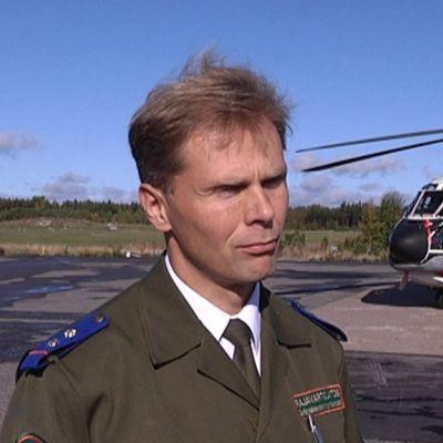 Turun vartiolentueen komentaja Santtu Mannila.