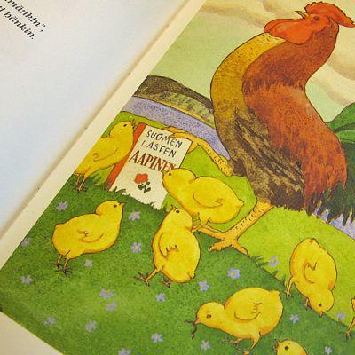Rudolf Koivun kuvittaman aapisen kukko on monelle tuttu