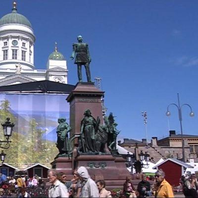 Pohjois-Karjala esittäytyi viime kesänä Senaatintorilla.