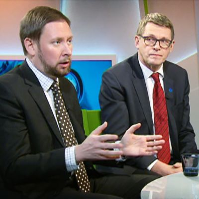Paavo Arhinmäki ja Matti Vanhanen.