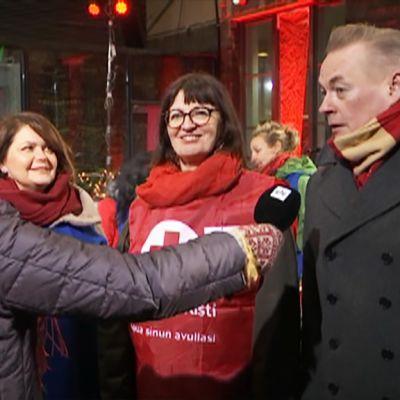 Milla Kalliomaa, Kristiina Kumpula ja Arto Nyberg.