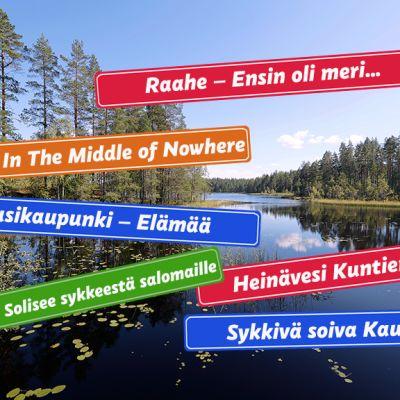 Kaupunkien sloganeita suomalaisessa järvimaisemassa