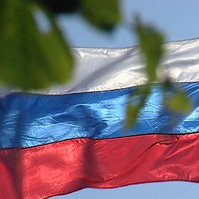 Venäjä, lippu liehuu