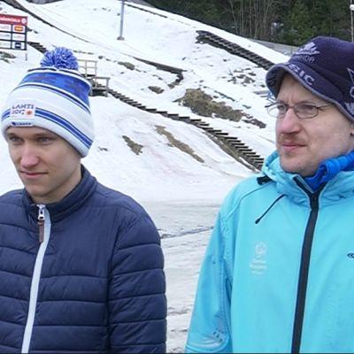 Aleksi Timonen (vas.) ja Sami Korhonen ovat lähdössä Special Olympics -kisoihin edustamaan Suomea.