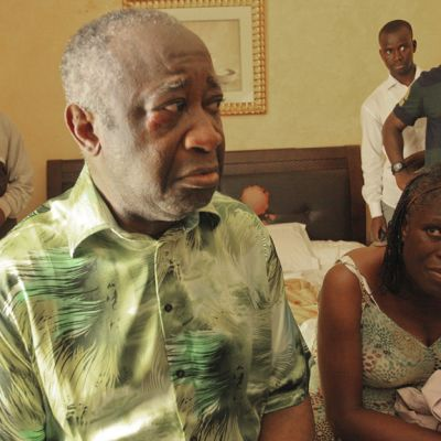 Kuvassa Laurent Gbagbo ja Simone Gbagbo.