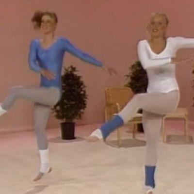 Aerobic-harjoitteita.