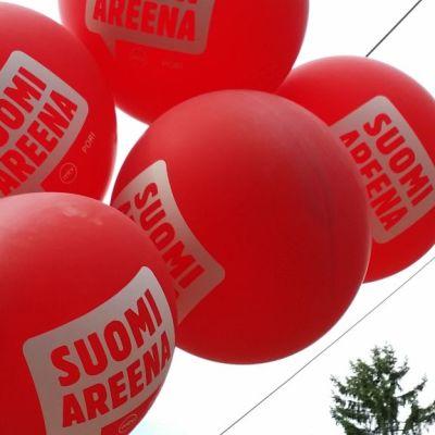 Suomiareena Suomi Areena Suomi-areena Pori 2017 ilmapalloja