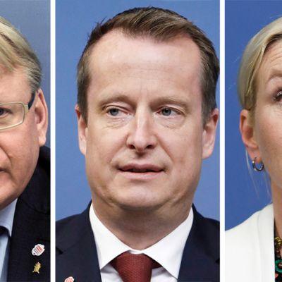 Yhtenäinen oikeisto-oppositio haluaa erottaa puolustusministeri Peter Hultqvistin, sisäministeri Anders Ygemanin ja infrastruktuuriministeri Anna Johanssonin.