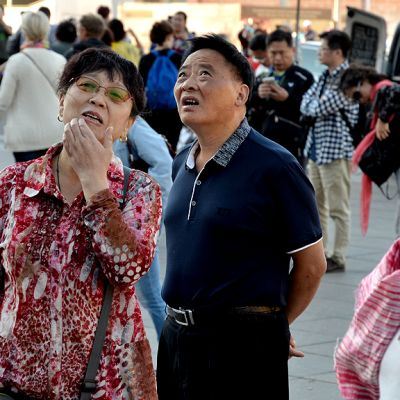 Kiinalaisia turisteja Pietarissa.