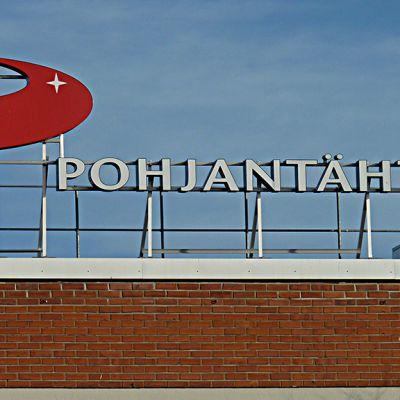 Pohjantähti-yhtiön logo katolla.