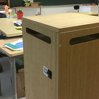 Uniq Air ilmapuhdistin Skinnarilan koulun luokassa