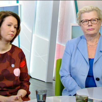 Nina Hahtela ja Kati Myllymäki.