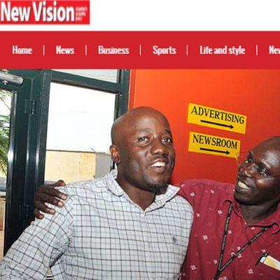 Kuvakaappaus newvision.co.ug -nettisivustolta.