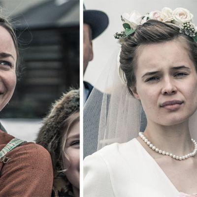 Paula Vesala ja Marketta Tikkanen Tuntemattoman sotilaan rooleissaan.