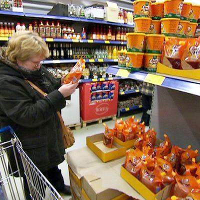 Kauppa venäläinen ostosmatkailija Laplandia market asiakas Lappeenranta