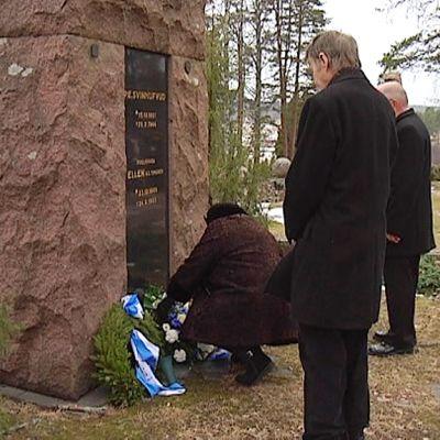 P.E. Svinhufvud hauta Luumäellä.