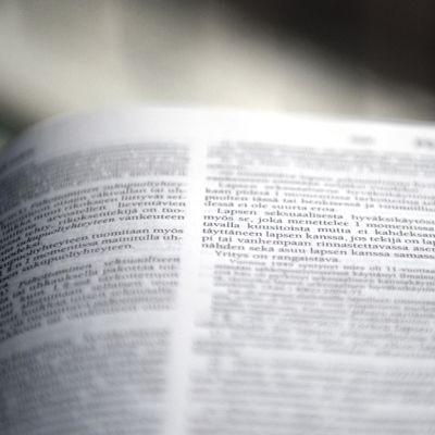Lakikirjan sivu liittyen lapsen seksuaaliseen hyväksikäyttöön.