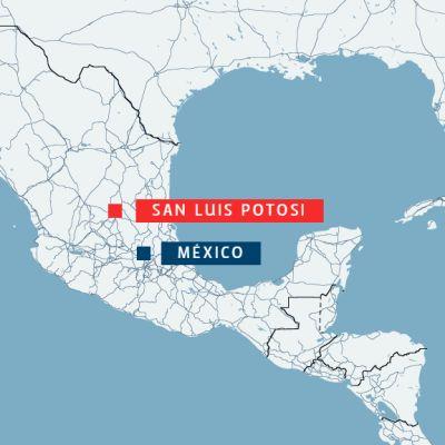 Kartta: Asemiehet avasivat tulen yökerhossa San Luis Potosin kaupungissa Meksikossa varhain lauantaina.