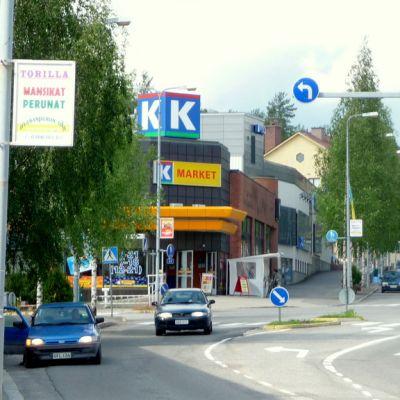 Outkummun kaupungin keskusta.