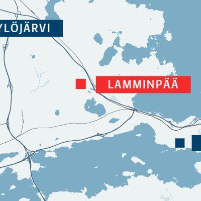 Lamminpää sijaitsee läntisellä Tampereella Ylöjärven rajan tuntumassa.