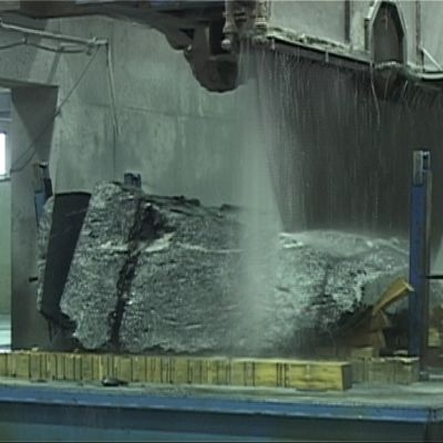Isosaha Tulikiven tehtaalla Juuan Nunnanlahdessa.