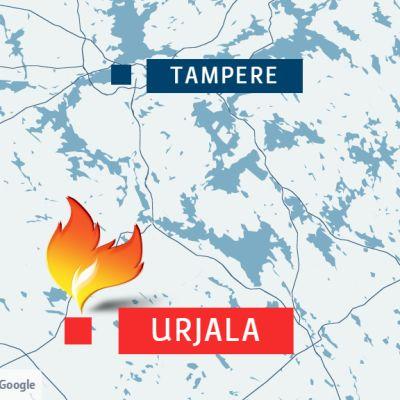 Urjalassa eteläisellä Pirkanmaalla paloi.