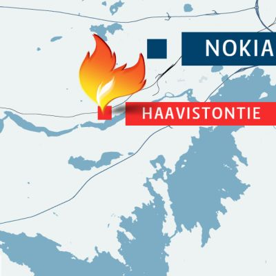 Haavistontie on Nokian keskustan länsipuolella.