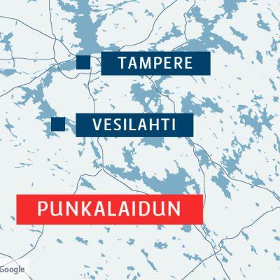 Punkalaidun sijaitsee Lounais-Pirkanmaalla.