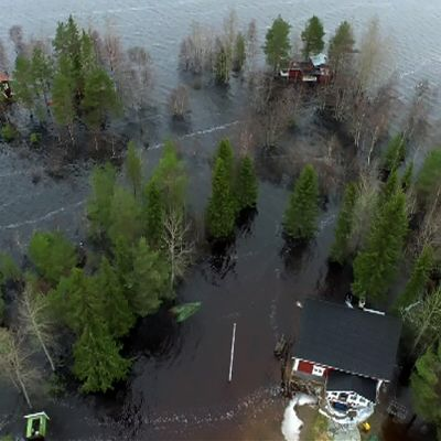 Pudasjärven tulvat.