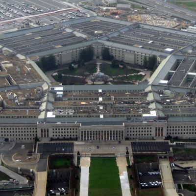 Yhdysvaltain puolustusministeriön hallintorakennus Pentagon