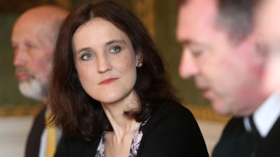 Brittiske ministern med ansvar för Nordirland, Theresa Villiers.