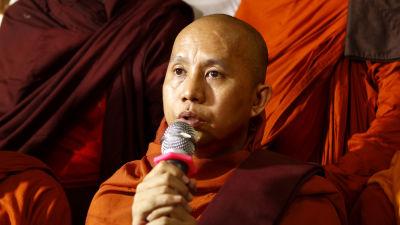Den ultranationalistiska munken Ashan Wirathu i Burma.