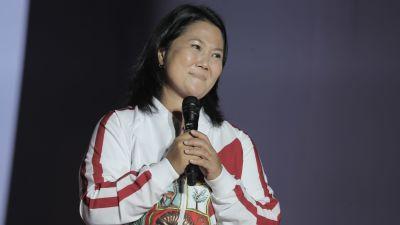 Den peruanska presidentkandidaten Keiko Fujimori.